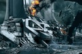 Picture ships, ruins, concept art, the city, smoke, mass effect 3, thessia, the reapers, fire