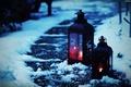 Picture widescreen, winter, HD wallpapers, Wallpaper, patterns, full screen, lantern, background, fullscreen, widescreen, snow, mood, background, ...