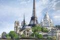 Picture Paris, Paris, France, monuments, eiffel tower, dostoprimechatelnosti, Notre dame de Paris