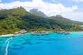 Picture the ocean, island, Bora Bora, resort, view on paradise tropical isl bora-bora