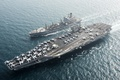 Picture weapons, army, Navy, replenishment oiler USNS Pecos (T-AO 197), Aircraft carrier USS Harry S. Truman ...