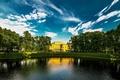 Picture lake, Saint Petersburg, Russia, Peter, Palace, SPb
