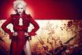 Picture girl, no doubt, red dress, Gwen Stefani, Gwen Stefani, singer