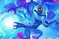 Picture ball, wings, art, Dota 2, Puck, Cryotube, magic dragon
