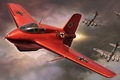 Picture Messerschmitt Me 163 Komet, AVIATION, WW2, painting, airplane, art, WAR, aircraft