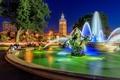 Picture area, fountain, Missouri, sculpture, Kansas City, Missouri, Kansas City, Country Club Plaza, JC Nichols Memorial ...