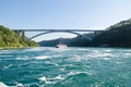Picture bridge, bridge, river, Nature, Niagara, summer, summer, Niagara, river, scenery