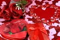 Picture romance, roses, hearts, love, rose, heart, romantic, Valentine's Day