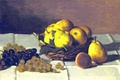 Picture picture, still life, basket, Claude Monet, Pears and Grapes