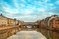 Picture architecture, river, the city