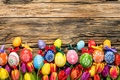 Picture eggs, holiday, spring, flowers, happy, tulips, tulips, Easter, eggs, Easter, wood, colorful