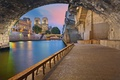 Picture Notre Dame Cathedral, bridge, Hay, France, Paris, arch, arch, promenade, river