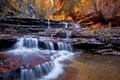 Picture autumn, nature, waterfall, rocks, river, landscape