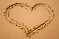 Picture heart, mood, heart, nature, written, sand