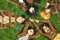 Picture grass, stay, form, emblem, friends, art, levi, shingeki no kyojin, mikasa ackerman, armin arlert, the ...