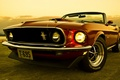 Picture Ford, Muscle car, Muscle car, 1969, convertible, the front, Mustang, Convertible, the sky, Mustang, Ford
