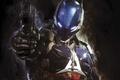 Picture Rocksteady Studios, weapons, hologram, the barrel, armor, Arkham Knight, Batman: Arkham Knight, Warner Bros, gun