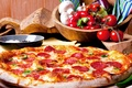 Picture mushrooms, cheese, pepper, pizza, tomatoes, sausage, cakes, pizza, filling, pepper, tomato, sausage