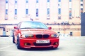 Picture house, BMW, before, red, e46