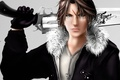 Picture weapons, art, jacket, pendant, guy, chain, Final Fantasy, revolver, scar, Squall Leonhart, VIII