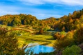 Picture hills, lake, autumn, forest