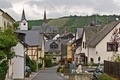 Picture field, home, Germany, hill, street, Veldenz, town, the sky