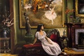 Picture girl, room, portrait, art, Harry McCormick