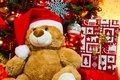 Picture holiday, toys, new year, Christmas, bear, gifts, tree, christmas, new year