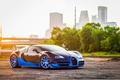Picture Ligth, Veyron, Blue, Vittesse, Sun, Bugatti, Sport, Spoiler, Supercar, Front, Grand