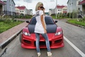 Picture girl, mazda, Mazda, rx-8, blonde, home