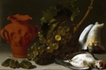 Picture vase, picture, grapes, Still life with Dead Bird, Juan Bautista de Espinosa