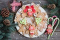 Picture sweets, cakes, winter, dessert, tree, cookies, sweet, snowflakes, plate, New Year, Christmas, Anna Verdina, branches, ...
