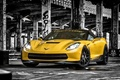 Picture background, Corvette, tuning, Chevrolet, Stingray, HPE700, Corvette, Ruffer Performance, the front, tuning, Chevrolet, yellow