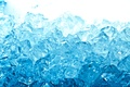 Picture macro, water, ice, blue, cubes, blue