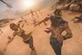Picture Mortal Kombat, arrows, Tanya, Reyn, chase