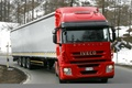 Picture winter, the truck, trees, road, truck, track, Iveco stralis, Trak, forest