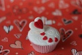 Picture heart, mood, dessert, heart, sweet, red, food, cake