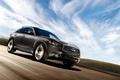 Picture hatchback, road, lights, emblem, infiniti, Sport Utility Vehicle, FX35, SUV, the sky, wheel, clouds