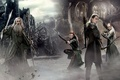 Picture sword, sky, clouds, The Lord of the Rings, elf, Gandalf, Legolas, film, bow, The Hobbit, ...