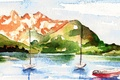 Picture landscape, style, background, picture, watercolor