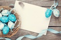Picture paper, blue, Board, eggs, Easter, tape, Spring, Easter, Holidays, Eggs