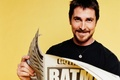 Picture actors, newspapers, christian bale, batman, newspaper, yellow background, actor