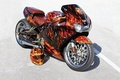 Picture LANGUAGES, FIRE, AIRBRUSHING, SPORTBIKE, TUNING, FLAME, DRIVES, ROAD, HELMET