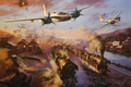 Picture the plane, Bomber, painting, WW2, Attack, A-26 Invader, aircraft art, Invader, A-26