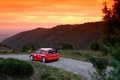 Picture The sky, Red, WRC, Hills, Rally, Sunset, Citroen, Rally