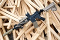 Picture accessories, wood, assault rifle