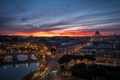 Picture bridges, Italy, home, panorama, architecture, The state of Vatican City, Rome, the city, the evening, ...