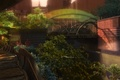 Picture flowers, ladder, garden, Mallrats, the dome, the city