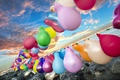 Picture balls, colorful, the sky, happy, color, sea, air, Sky, balloon