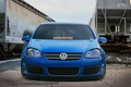 Picture train, tuning, volkswagen, low, blue, graffiti, golf, germany, mk5, stance